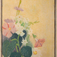 Hopkins - Woodcut - Whiteflowers
