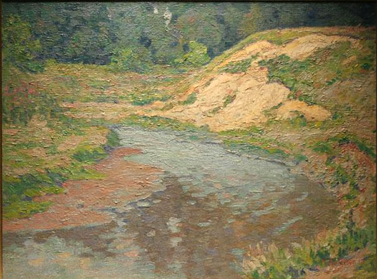 Andersen - oil painting - The Sand Bank