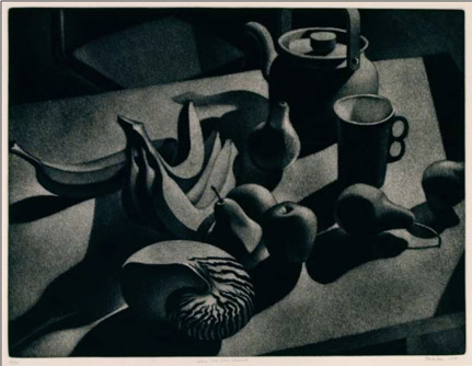 William Behnken - Aquatint - Still Life with Nautilus