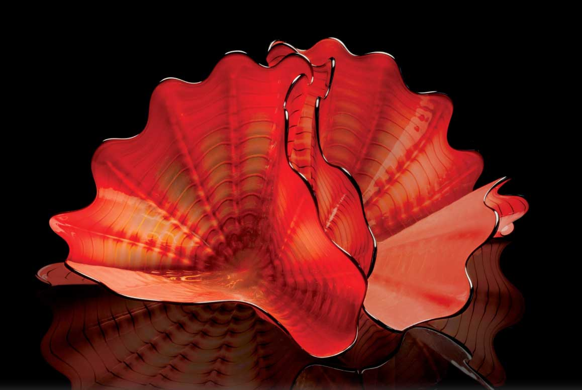 Chihuly - Glass - Red Amber Persian Pair