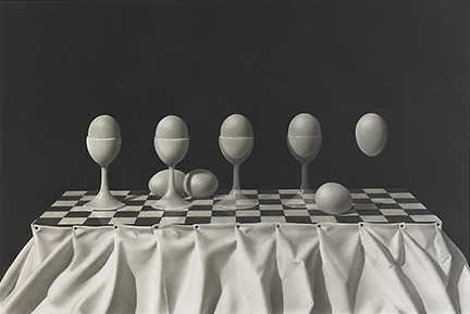 Chris Van Allsburg - Drawing - Eggs