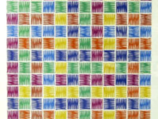Mario Yrisarry - Screenprint - Untitled Colorful Grid Abstract