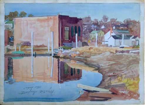 Olson - Watercolor - Mystic Seaport (Double-Sided Verso)