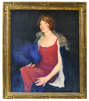William Mitcheson Timlin - Oil painting - Portrait of Miss McL.