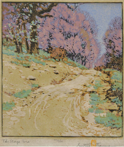 Gustave Baumann - Print - The Ridge Road