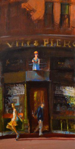 John Devaney - Oil Painting - Smoke Shop
