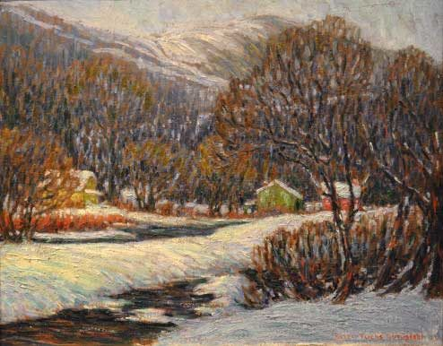 Helen Gundlach - Oil Painting - Winter in the Valley