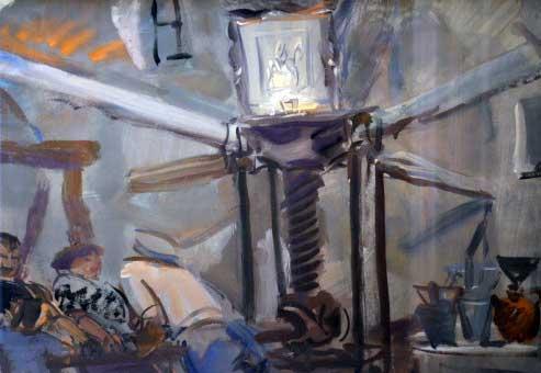 Alexandre Iacovleff - Detail - Le Pressoir