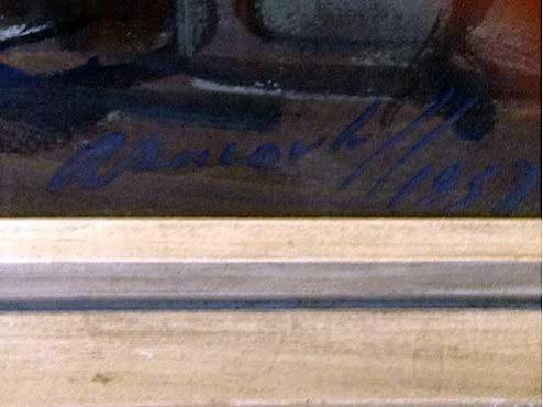 Alexandre Iacovleff  - Detail Signature - Le Pressoir