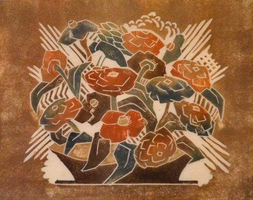 "Mullineux - Color Woodblock - ""Flowers"""