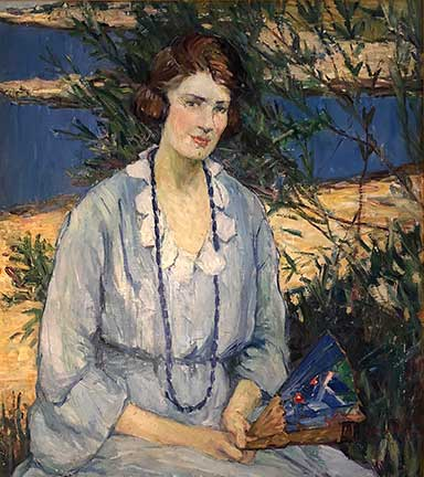 Agnes Richmond - Painting - Portrait of Lillian