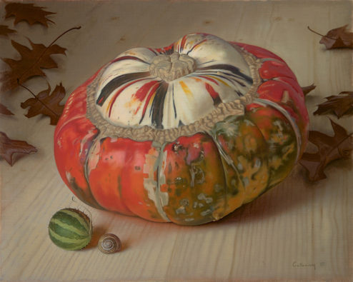Alex Callaway - Oil Painting - Improbability of a Turban Squash