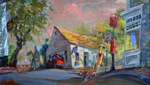 John Devaney - Oil Painting - India Street
